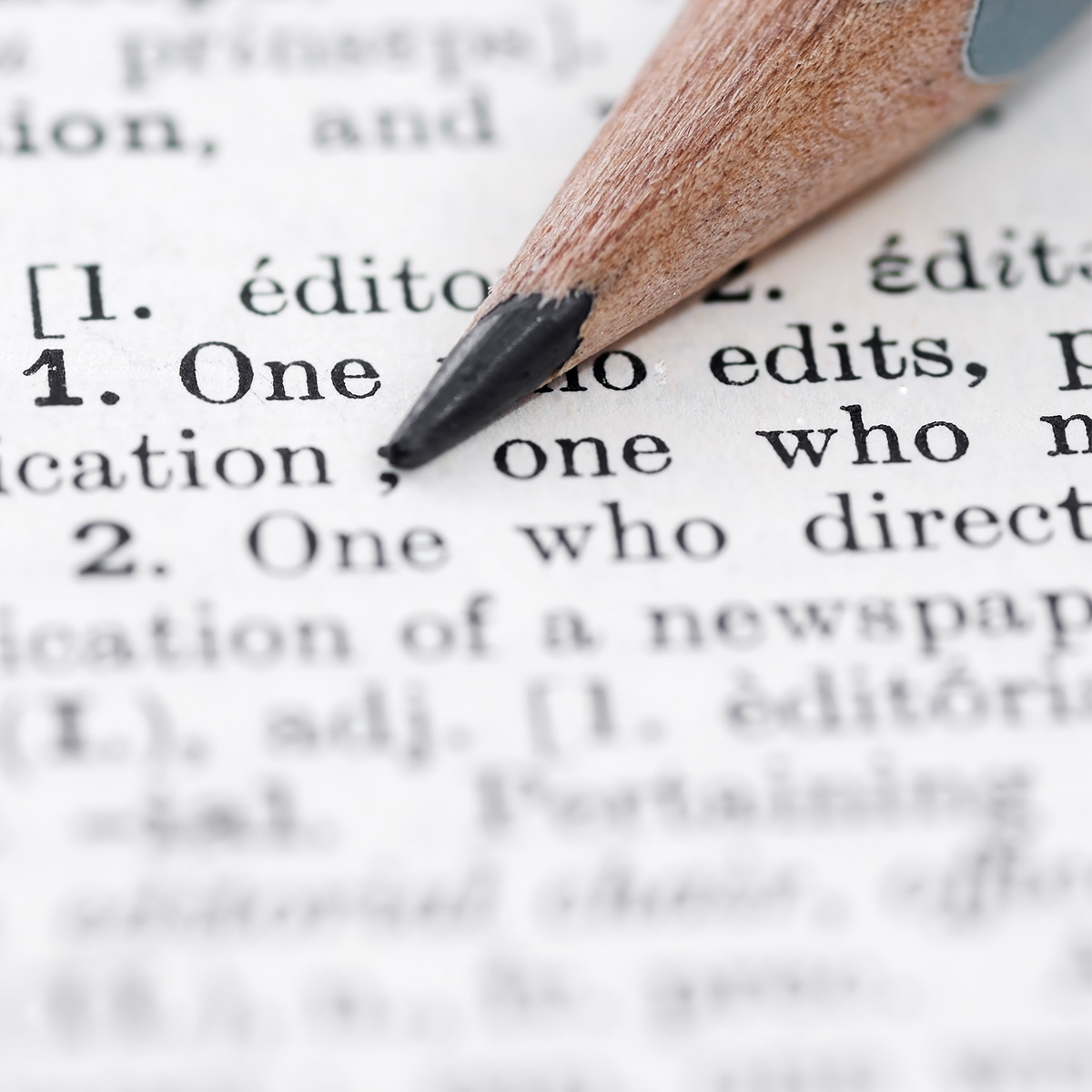 Courses in copy editing services