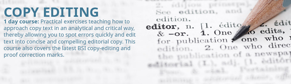 Proofreading and Copy-editing.
