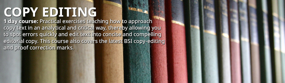 Copy Editing Friday 2nd October 2015 - BOOK NOW